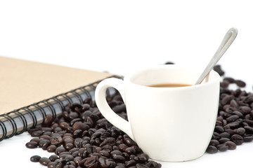 Wall Murals Coffee beans Coffee isolate on white background