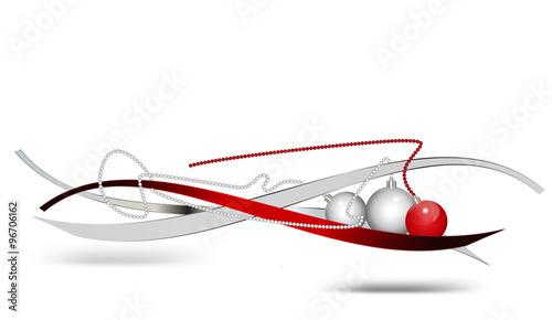 moderne weihnachtsdekoration in silber und rot. Black Bedroom Furniture Sets. Home Design Ideas