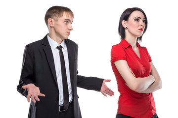 Woman and man misunderstanding