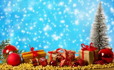 Weihnachtskarte mit Textfreiraum