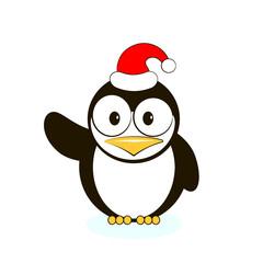 Vector of cute penguin