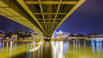 Branko's bridge over the river Sava. Belgrade, Serbia.