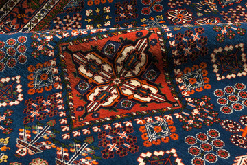 Close up of a persian josheghan oriental carpet