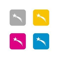 Icono Estrella de Navidad COLORES CUADRO