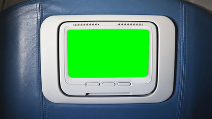 Seat Back Airplane Television with Chroma Green