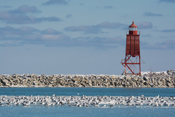 Harbor Light in Winter
