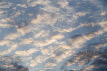 beautiful clouds dawn sun as background