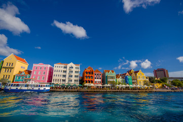 View of Willemstad. Curacao, Netherlands Antilles Wall mural