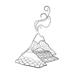 doodle volcano