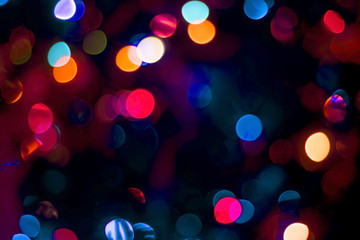 Blur party lights bokeh abstract color background