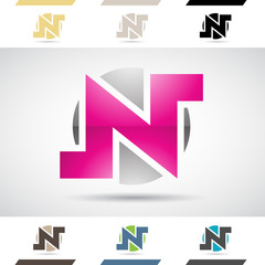 Logo Shapes and Icons of Letter N