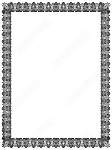 Quot Frame Batik Black White Abstract Ornament For Border