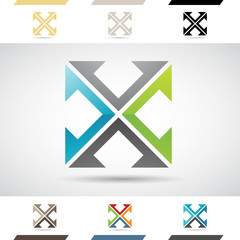 Logo Shapes and Icons of Letter X