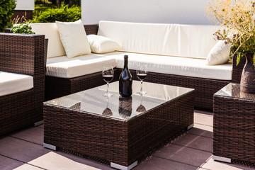 Luxury lounge with wine