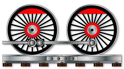 Pair Of Train Wheels