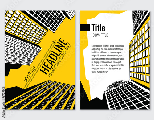 Business Brochure Vector Template For Architectural And - Construction brochure templates