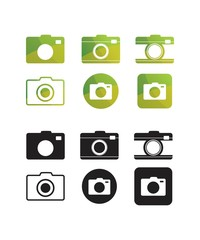 Camera Icon Set Bundle