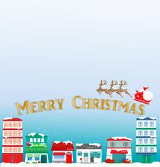 クリスマス、Santa Claus、Christmas、Xmas、トナカイ、街並み、town、町並み、