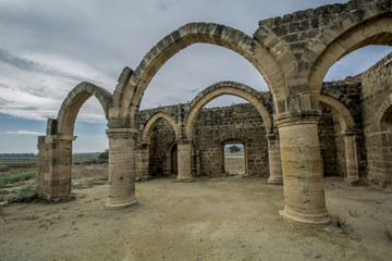 Ruins of Agios Sozomenos , Nicosia district. Cyprus