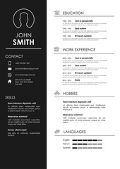 Minimalistic personal vector resume - cv template