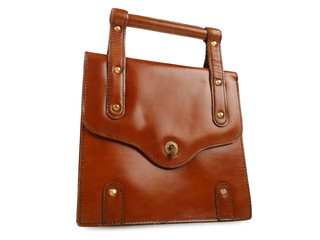 Wall Mural - Brown leather bag