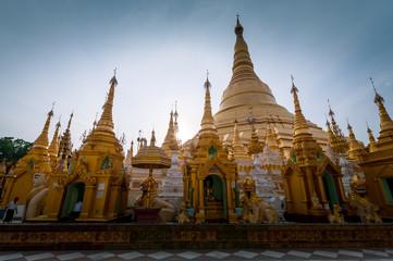 Shwedagon Pagoda is the most sacred Buddhist pagoda for the Burmese,  Yangon, Myanmar