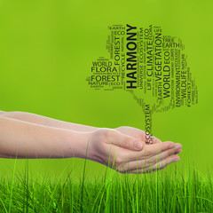 Conceptual ecology tree word cloud