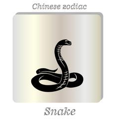 Vector. Black snake.