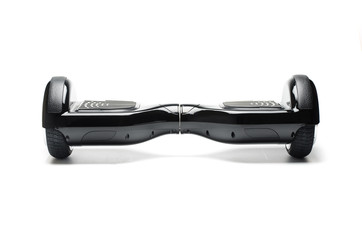 Dual Wheel Self Balancing Electric Skateboard Smart Scooter on White Background