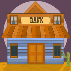 Old west building - bank office