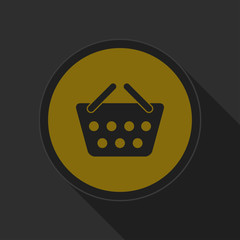 dark gray and yellow icon - shopping basket