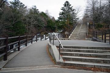 竜頭の滝 遊歩道