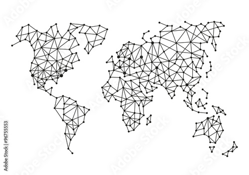 Triangle polygonal style world map on white background vector triangle polygonal style world map on white background vector gumiabroncs Choice Image