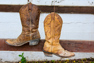 The old cowboy boots
