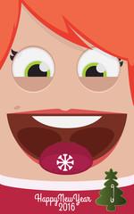 Christmas people vector illustration