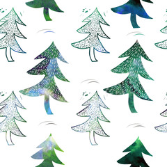 seamless pattern of  Christmas tree