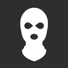 Balaclava or ski mask - symbol of terrorism