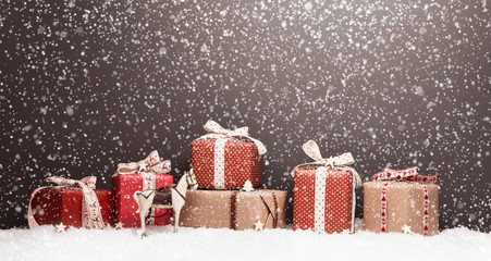 Christmas decoration with gifts
