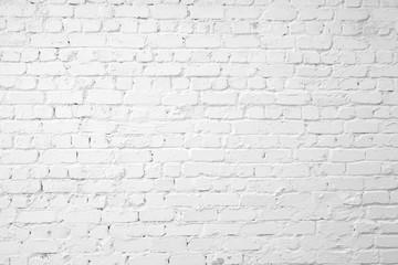 Loft styled white brick wall