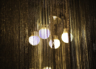 modern chandelier with metal chains