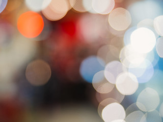 abstract background with colorful bokeh defocused lights and sha