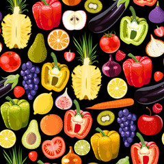Seamless fruits and vegetables