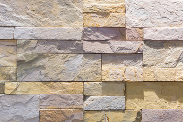 Interior wall made by stone tiles