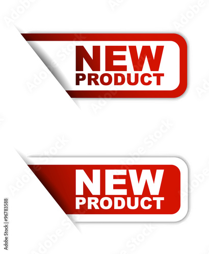 red vector paper element sticker new product in two variant stock