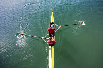 Two Man paddling