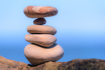 Balancing of stones each other