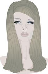 Vector portrait woman