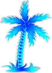 Наклейка,ледяная пальма с кокосами