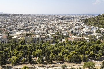 View over Athens, from the acropolis