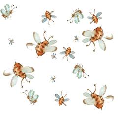 Watercolor Bees